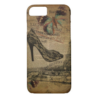Paris eiffel tower vintage girly shoes Case-Mate iPhone case