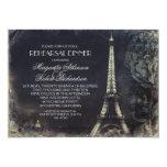Paris Eiffel tower vintage rehearsal dinner Personalized Announcement