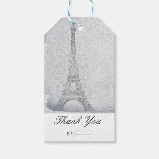 Paris Eiffel Tower Vintage Wedding Chic Favor Gift Tags
