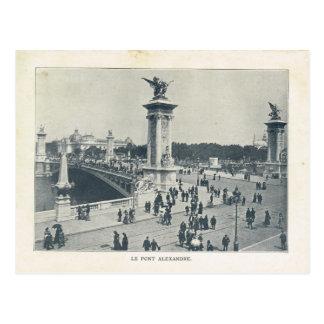 Paris Expo 1900, Le pont ALexandre III Postcard