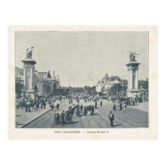 Paris Expo 1900, Pont Alexandre, Rue Nicholas II Postcard