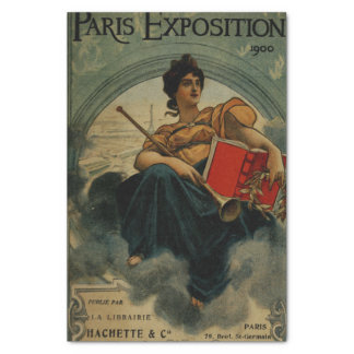 Paris Exposition 1900 - vintage French ad art Tissue Paper