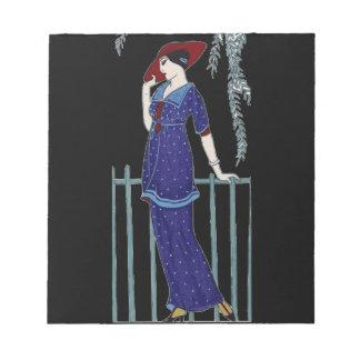Paris fashion 1920s elegant lady notepad