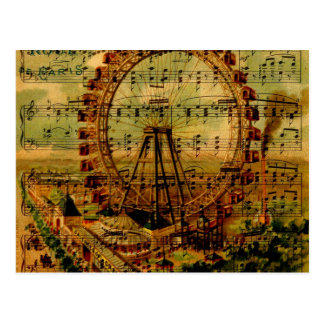 Paris Ferris Wheel Postcard