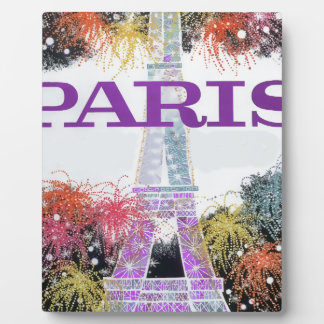 Paris Fireworks Plaque