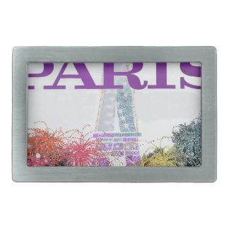 Paris Fireworks Rectangular Belt Buckles