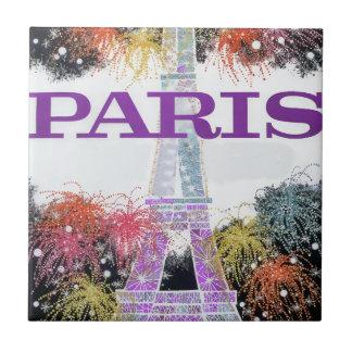 Paris Fireworks Tile