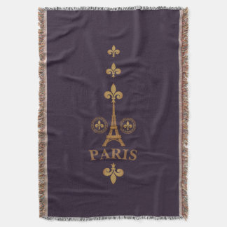 Paris Fleur De Lis Throw Blanket