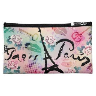 Paris Floral Medium Cosmetic Case Cosmetic Bag