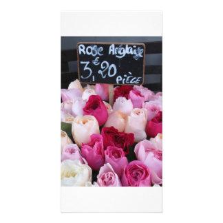 Paris Flower Market Photo Card Template