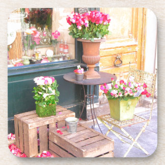 Paris Flower Shop Beverage Coasters