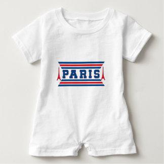 Paris football baby romper