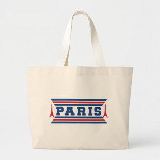 Paris football large tote bag