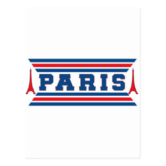 Paris football postcard