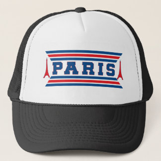 Paris football trucker hat