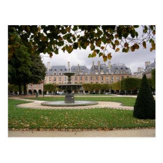 Paris Fountain Postcard