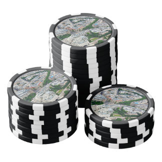 Paris France Aerial View Poker Chips