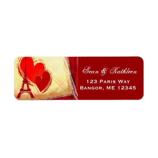 Paris France amour address labels