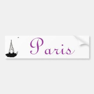 Paris, France and eiffel tower Bumper Sticker