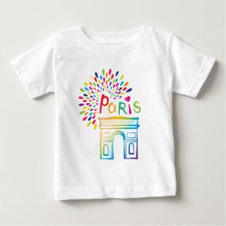 Paris France | Arc de Triomphe | Neon Design Baby T-Shirt