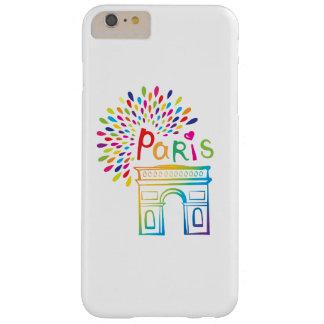 Paris France | Arc de Triomphe | Neon Design Barely There iPhone 6 Plus Case