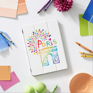 Paris France | Arc de Triomphe | Neon Design iPad Air Cover