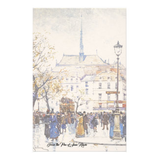 Paris France City Street Scene Fashion Stationery
