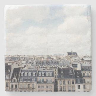 Paris France Cityscape Stone Coaster