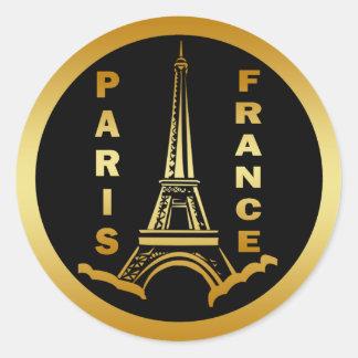 PARIS, FRANCE CLASSIC ROUND STICKER