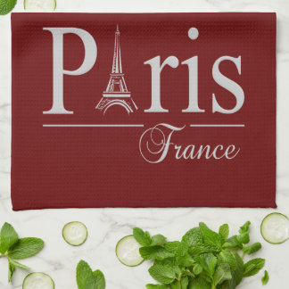 Paris France custom kitchen towels - choose color