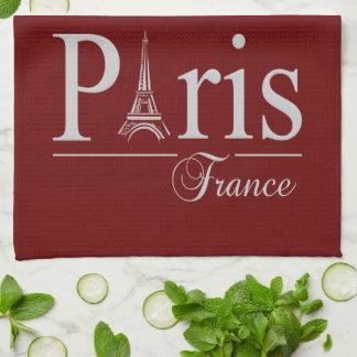 Paris France custom kitchen towels - choose color