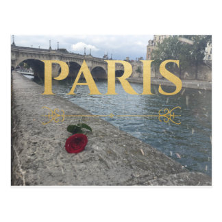 paris france eiffel poscard postcard