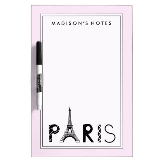 Paris, France | Eiffel Tower Dry Erase Board