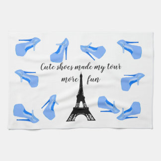 Paris France Eiffel Tower High Heels Kitchen Towel