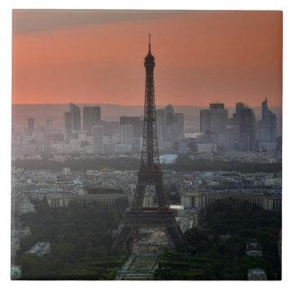 Paris France Eiffel Tower Skyline Ceramic Tile
