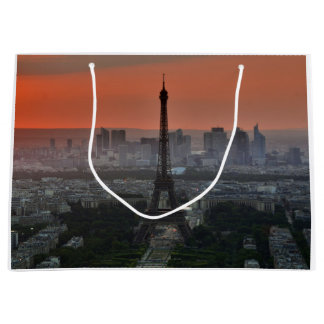 Paris France Eiffel Tower Skyline Large Gift Bag