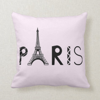 Paris, France | Eiffel Tower Throw Pillow