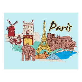 Paris, France Famous City Postcard