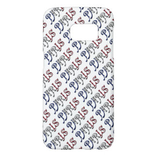 Paris France French Flag Colors Typography Samsung Galaxy S7 Case