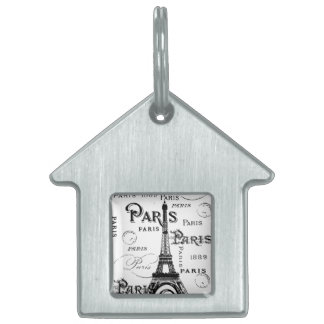 Paris France Gifts and Souvenirs Pet ID Tags