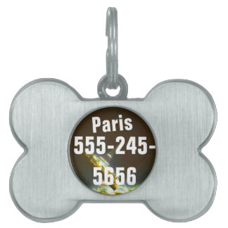 Paris France Gifts and Souvenirs Pet Name Tags
