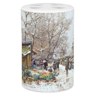 Paris France Impressionism Flower Market Bath Set
