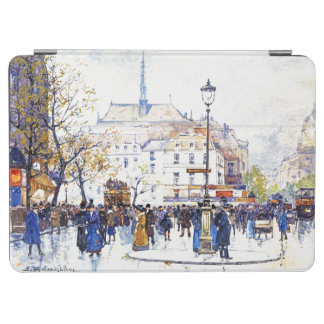 Paris France Impressionism Street Scene iPad Cover