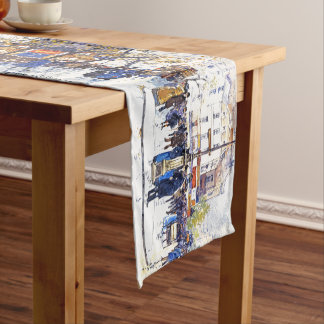 Paris France Impressionism Streets Table Runner