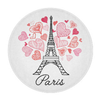 Paris, France Love Cutting Board