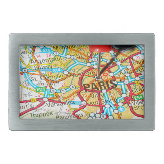 Paris, France Rectangular Belt Buckle