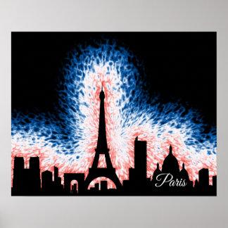 Paris France Silhouette Poster