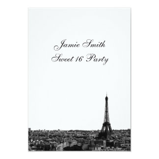 Paris France Skyline #1 BW Sweet 16 V Card