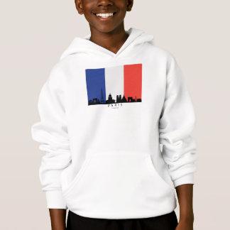 Paris France Skyline French Flag