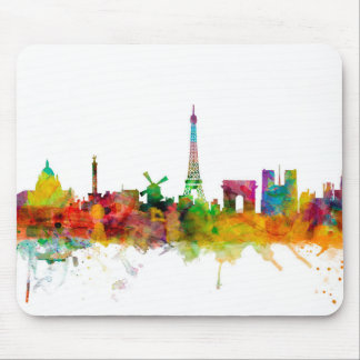 Paris France Skyline Mouse Pad